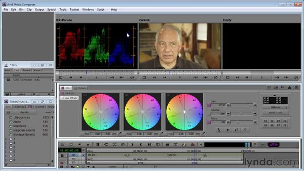 Correcting color automatically: Avid Media Composer 5 Essential Training