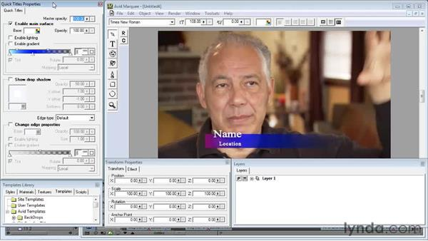Using title templates: Avid Media Composer 5 Essential Training