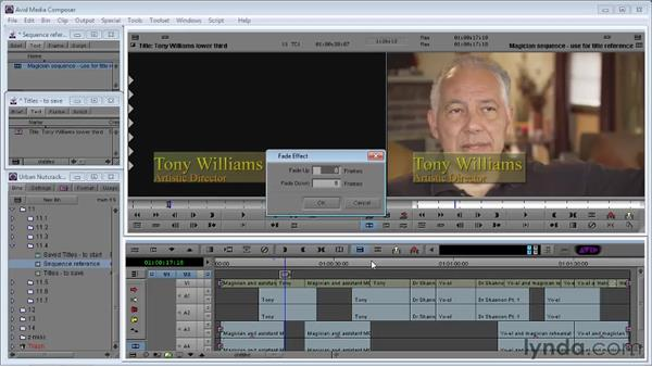 Bringing a title into Media Composer: Avid Media Composer 5 Essential Training