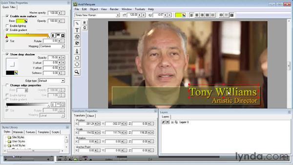 Revising the title: Avid Media Composer 5 Essential Training