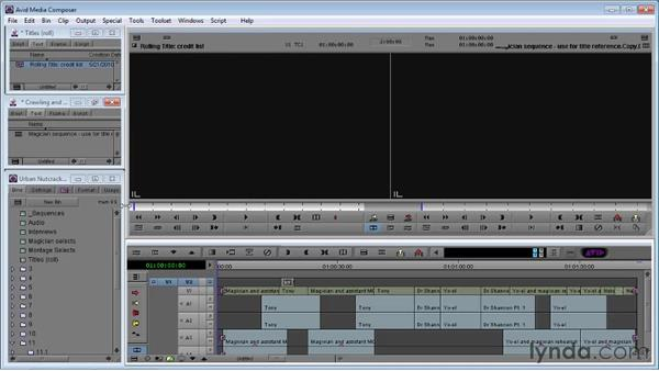 Creating rolling and crawling titles: Avid Media Composer 5 Essential Training
