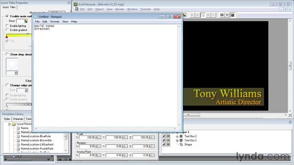 Using Auto-Titler: Avid Media Composer 5 Essential Training