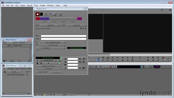 Using the Capture tool: Avid Media Composer 5 Essential Training
