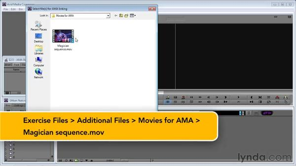 Using AMA (Avid Media Access) for QuickTime imports: Avid Media Composer 5 Essential Training