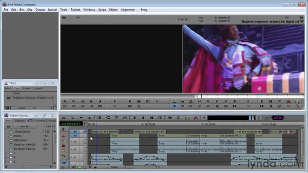 Preparing a sequence for digital cut to print to tape: Avid Media Composer 5 Essential Training