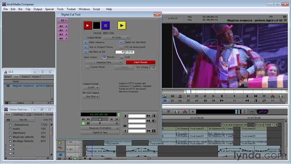 Performing a digital cut: Avid Media Composer 5 Essential Training