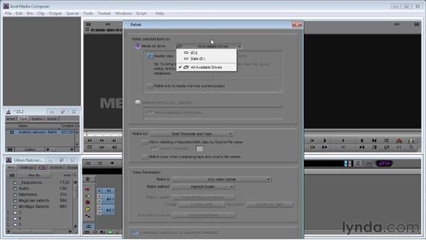 Re-linking media: Avid Media Composer 5 Essential Training