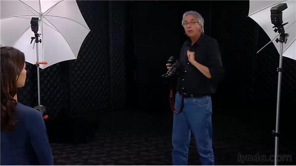 Using two flashes on two light stands for a ratio lighting portrait: Photo Assignment: Off-Camera Flash