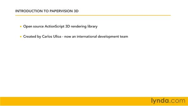 Understanding Papervision3D concepts and terminology: Papervision3D 2 Essential Training