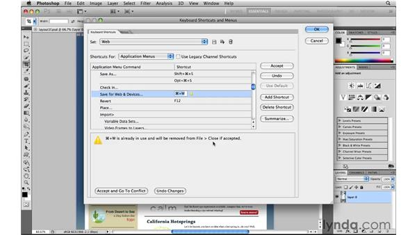 Creating web shortcuts: Photoshop CS5 for the Web