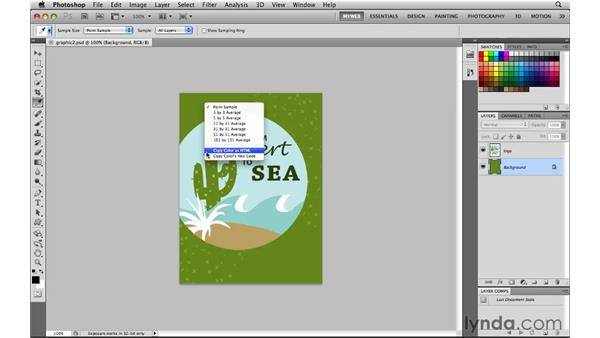 Copying color as hex value and HTML: Photoshop CS5 for the Web