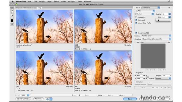 Optimizing photos as JPEGs: Photoshop CS5 for the Web