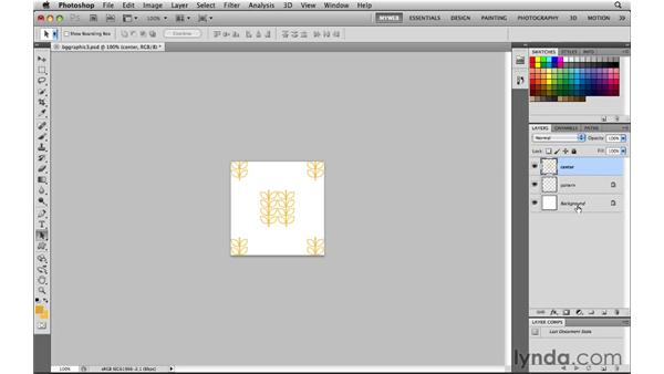 Building a seamless background graphic: Photoshop CS5 for the Web