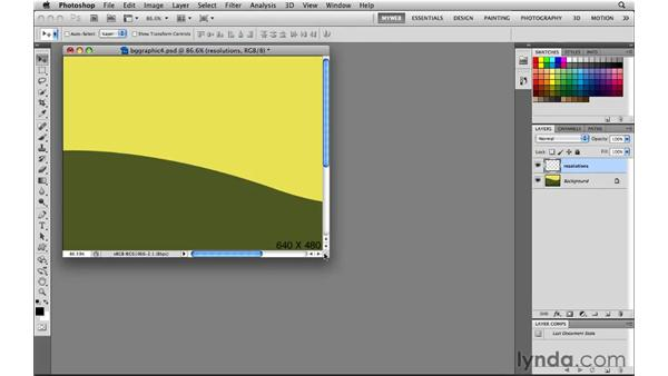 Creating a full-screen background image: Photoshop CS5 for the Web