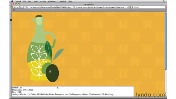 Working with transparent graphics on a patterned background: Photoshop CS5 for the Web