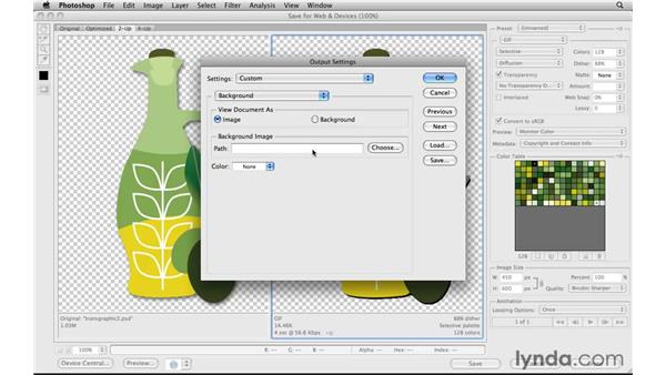 Working with transparent graphics with shadows: Photoshop CS5 for the Web