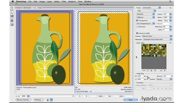 Starting with a non-transparent graphic: Photoshop CS5 for the Web