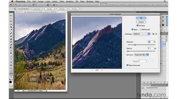 Sharpening output for the web: Photoshop CS5 for the Web