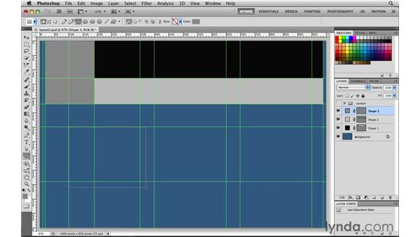 Laying out a page structure: Photoshop CS5 for the Web