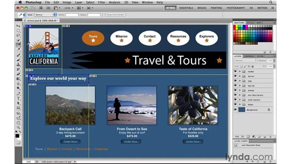 Making user slices: Photoshop CS5 for the Web