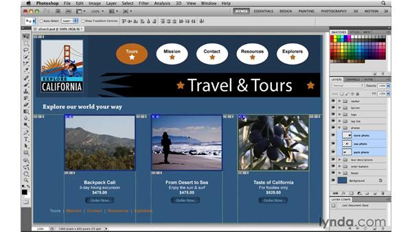 Making layer-based slices: Photoshop CS5 for the Web