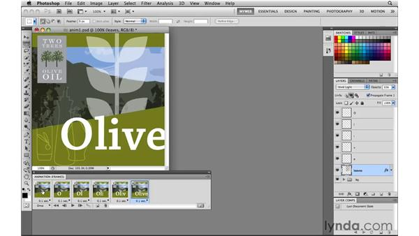 Creating frame-by-frame animation from layers: Photoshop CS5 for the Web