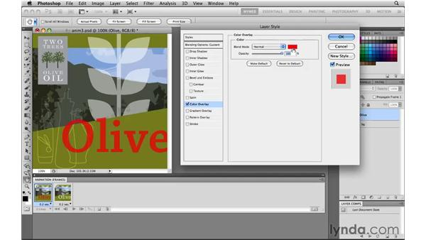 Tweening layer position and styles: Photoshop CS5 for the Web