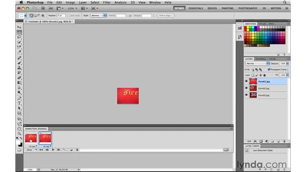 Building simple animated GIF slideshows: Photoshop CS5 for the Web