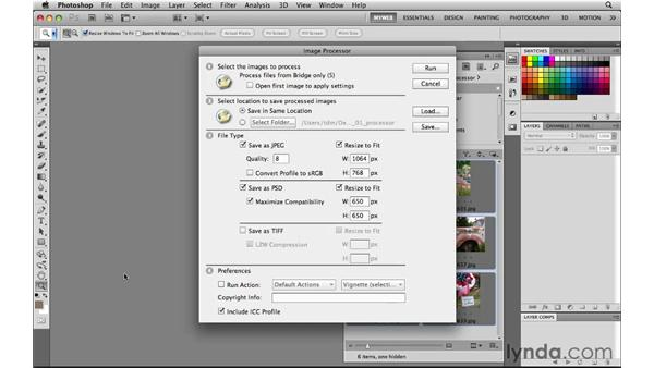 Speeding image prep with the Image Processor: Photoshop CS5 for the Web