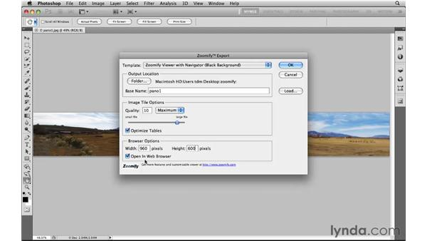 Using Zoomify to put high-res images online: Photoshop CS5 for the Web