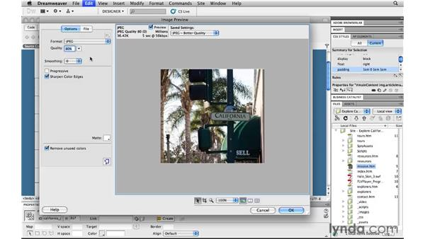 Integrating with Dreamweaver: Copy/Paste: Photoshop CS5 for the Web