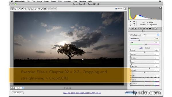 Cropping and straightening : Photoshop CS5: Landscape Photography