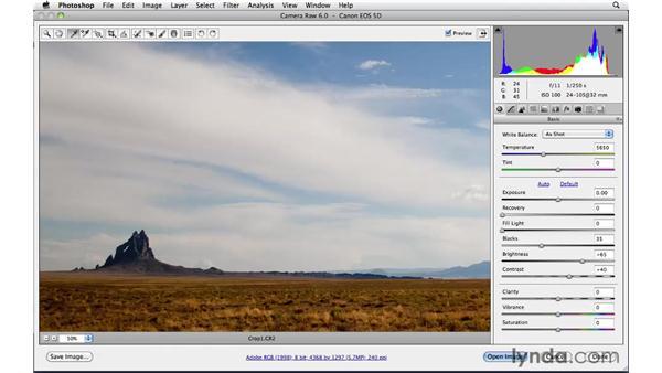 Correcting blacks: Photoshop CS5: Landscape Photography
