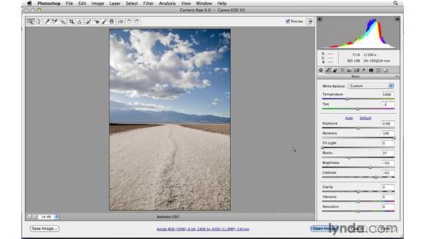 Clarity and sharpening : Photoshop CS5: Landscape Photography