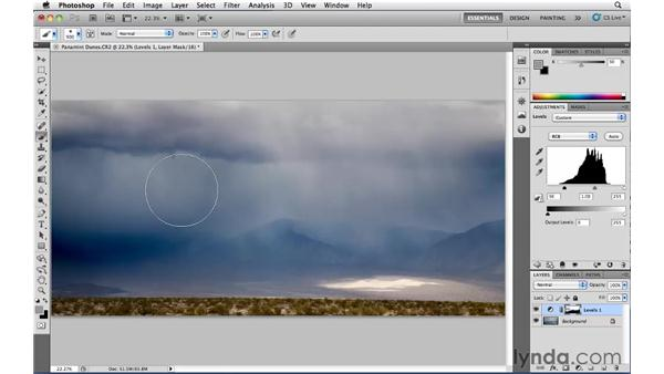 Advanced Levels adjustment layers: Photoshop CS5: Landscape Photography