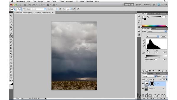 Guiding the viewer's eye with Levels: Photoshop CS5: Landscape Photography