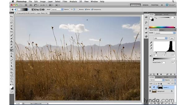 Using gradient masks for multiple adjustments: Photoshop CS5: Landscape Photography