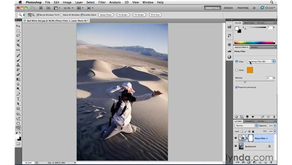 Correcting color in JPEG images : Photoshop CS5: Landscape Photography