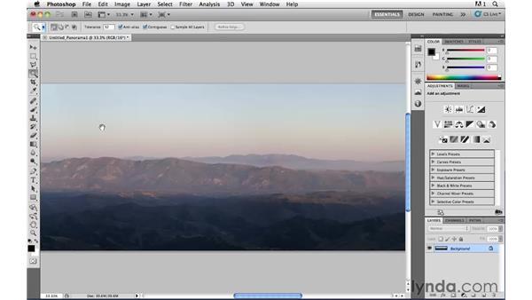 Stitching a panorama: Photoshop CS5: Landscape Photography