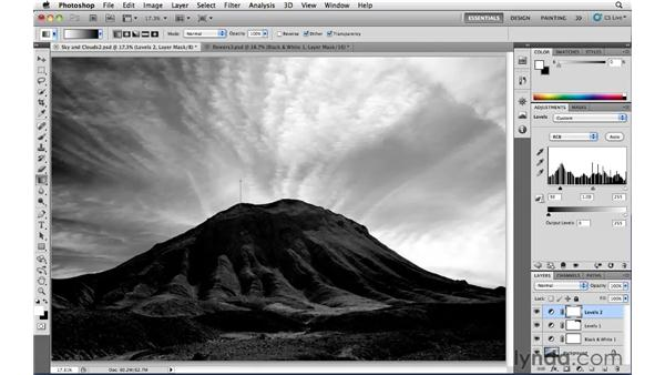 Correcting tone in black-and-white images: Photoshop CS5: Landscape Photography