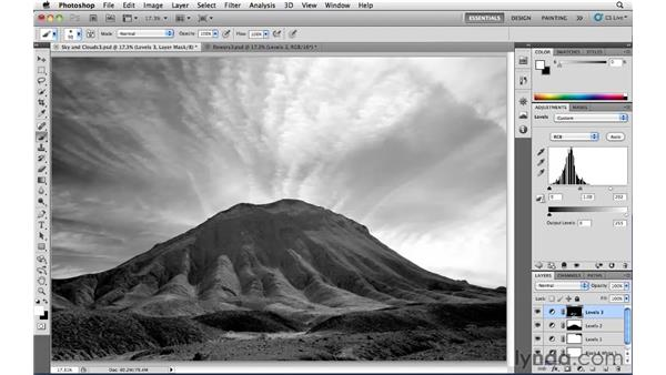 Adding highlights to black-and-white images: Photoshop CS5: Landscape Photography