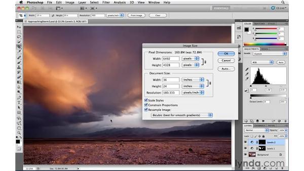 Enlarging and reducing: Photoshop CS5: Landscape Photography