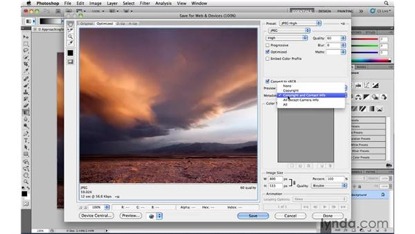 Outputting an electronic file: Photoshop CS5: Landscape Photography