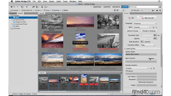 Making a web gallery: Photoshop CS5: Landscape Photography