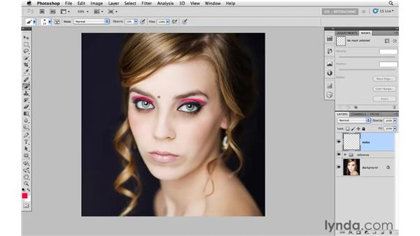 Making notes for a retouching road map: Photoshop CS5: Portrait Retouching