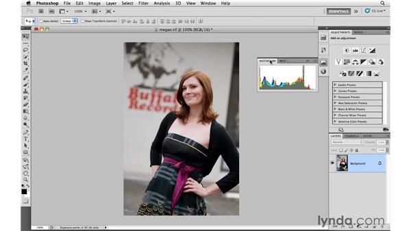 Creating a custom retouching workspace: Photoshop CS5: Portrait Retouching