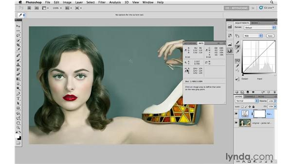 White balancing with curves: Photoshop CS5: Portrait Retouching