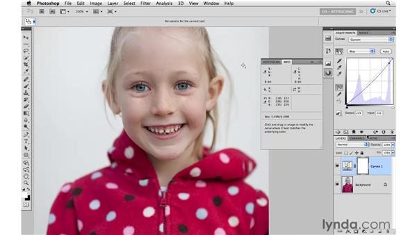 White balancing and masking: Photoshop CS5: Portrait Retouching