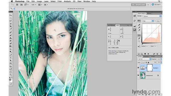 Color-correcting medium skin tones: Photoshop CS5: Portrait Retouching
