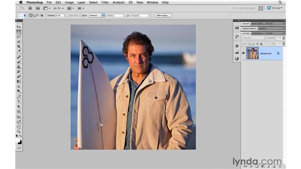 Using Content-Aware Fill: Photoshop CS5: Portrait Retouching
